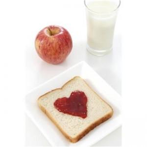 diabetic meal apple milk and sandwich