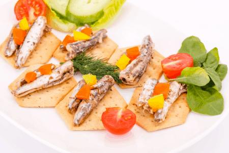 Mackerel on crackers